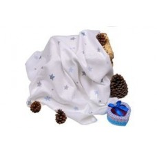 Sema Baby Çok Amaçlı Müslin Örtü 100x80 cm - Mavi Yıldız 8682476853131