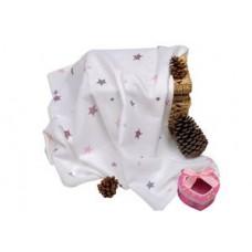 Sema Baby Çok Amaçlı Müslin Örtü 100x80 cm - Pembe Yıldız 8682476853124