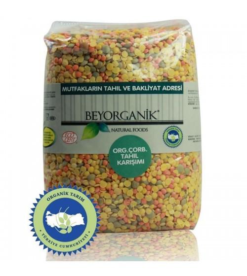 Beyorganik  Organik Çorbalık Tahıl Karışımı (Üçlü Mercimek) 1 Kg