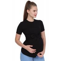 Luvmabelly - MYRA4131 - Beli Kuşaklı Hamile Bluzu - Siyah